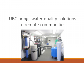 UBC brings water-quality solutions to remote communities