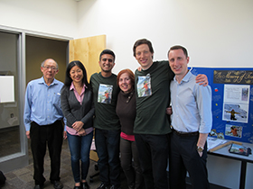L to R – Dr. Jim Lim, Dr. Naoko Ellis, Ally Amin, Mary Kenny, Lee Rippon, and Oliver Zihlmann