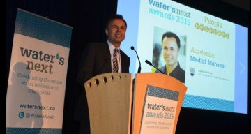 Dr. Madjid Mohseni receives Water's Next 2015 Award
