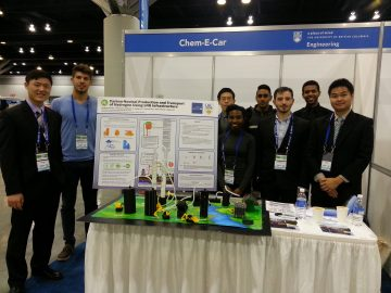 The ChemECar Team was awarded 2nd place for their project.