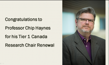 Congratulations to Professor Chip Haynes
