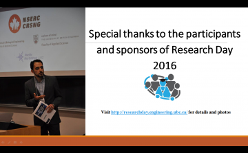 Special thanks to the participants and sponsors of Research Day 2016