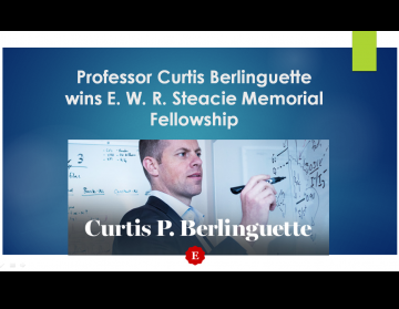 Professor Curtis Berlinguette wins E. W. R. Steacie Memorial Fellowship