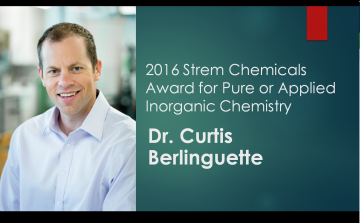 Strem Award for Dr. Curtis Berlinguette