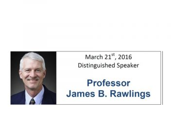 Professor James Rawlings Seminars