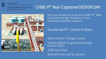 CHBE 4th year Capstone Design Day