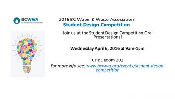 2016 BCWWA Student Design Competition