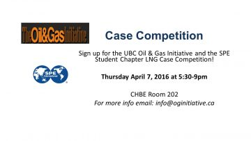 The Oil&Gas Initiative and SPE Student Chapter : LNG Case Competition