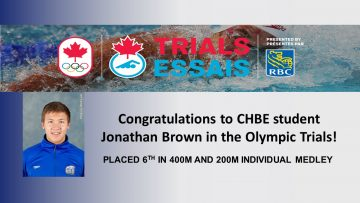 Congratulations to Jonathan Brown in the Olympic Trials!