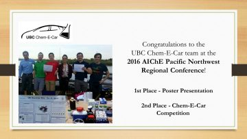 Congratulations to the Chem-E-Car team!