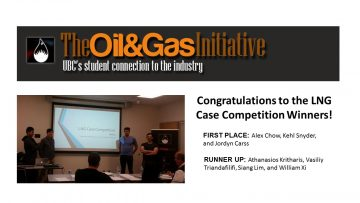 The Oil&Gas Initiative and SPE Student Chapter : LNG Case Competition Winners