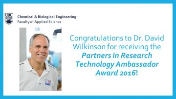 Congratulations to Dr. David Wilkinson