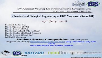 5th Annual Young Electrochemists Symposium