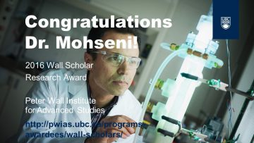 Congratulations to Dr. Mohseni