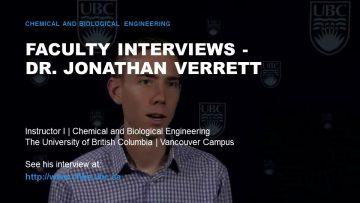 Faculty Interviews – Dr. Jonathan Verrett