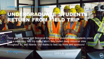 Undergraduates Return From Field Trip