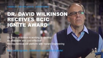 Dr. Wilkinson Receives BCIC Ignite Award