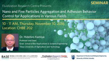 FRC Seminar from Hidehiro Kamiya on Nano and Fine Particles