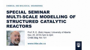 Special Seminar – Bob Hayes – Nov. 25