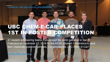 UBC Chem-E-Car Places 1st at AIChE 2016 Student Conference