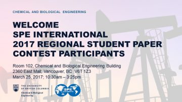 SPE International 2017 Regional Student Paper Competition: Canada Region