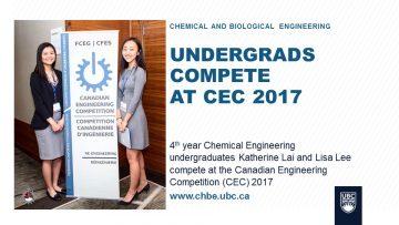 Undergrads Compete at CEC 2017