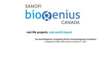 2017 Sanofi Biogenius competition