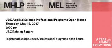 May 18 2017 – UBC APSC Professional Programs Open House