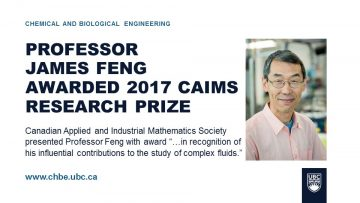 Feng Awarded 2017 CAIMS Research Prize