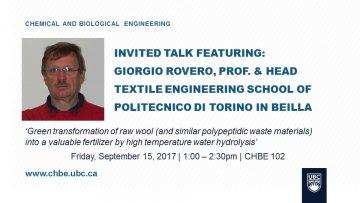 Invited Talk: Dr. Giorgio Rovero