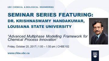 Special Seminar – Krishnaswamy Nandakumar – October 20 2017