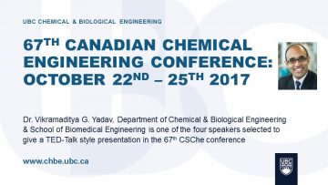 67th Canadian Chemical Engineering Conference: Vikramaditya G. Yadav
