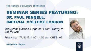 Special Seminar – Paul Fennell – November 17 2017