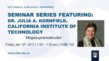 Special Seminar – Julia A. Kornfield – January 12 2018