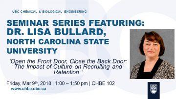 Special Seminar – Lisa Bullard – March 9 2018
