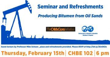 Oil & Gas Initiative Speaker Series: Mike Schoen – February 15th 2018 – 6pm