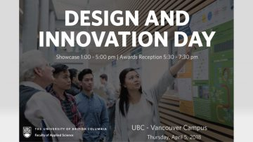 Design and Innovation Day – April 5 2018 – 1pm