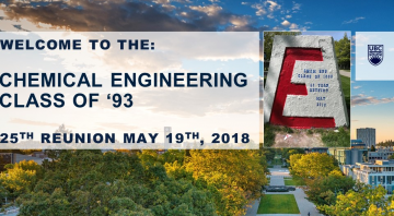 UBC Chemical Engineering Class of '93 Reunion – May 19th 2018