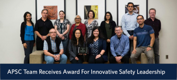 APSC Team Receives Award For Innovative Safety Leadership