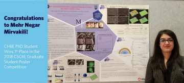 CHBE PhD Student Wins 1st Place in the 2018 CSChE Graduate Student Poster Competition