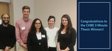 Congratulations to the CHBE Research Day 3 Minute Thesis Winners!
