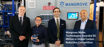 Mangrove Water Technologies Awarded $5 Million in Global Carbon Reduction Competition
