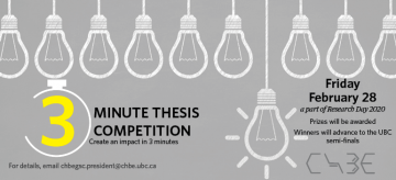 CHBE Three Minute Thesis Competition