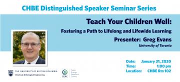 Distinguished Speaker Seminar – Professor Greg Evans