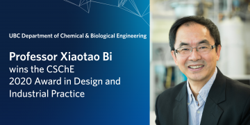 Professor Xiaotao Bi wins the CSchE Award in Design and Industrial Practice