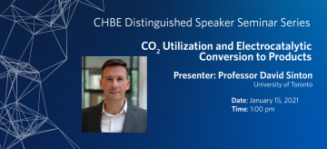 Distinguished Speaker Seminar – Professor David Sinton